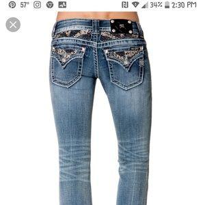 MISS ME Embellished JP5801B Boot Jeans sz 28
